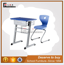 single seat school desk and chair, used wooden school desk chair