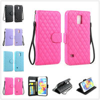 Quilted Flip Leather Wallet Stand Hybrid Case Cover For Samsung Galaxy S5 i9600