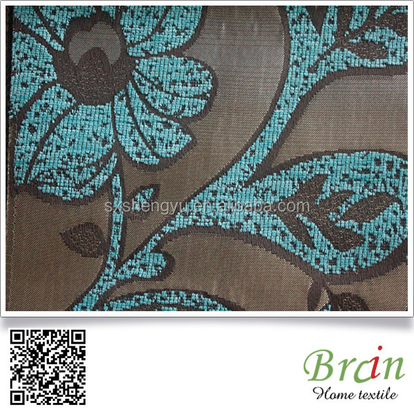 Trade Insuranced Supplier Tree Leaf Jacquard Fabric For Curtain/ Sofa