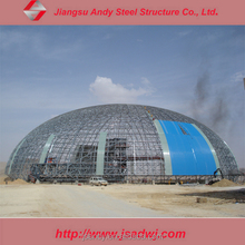 Steel dome roof design coal warehouse