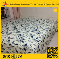 HOT! best price twill style nature bed sheet sets + cotton fabric for bed sheet + custom print bedding