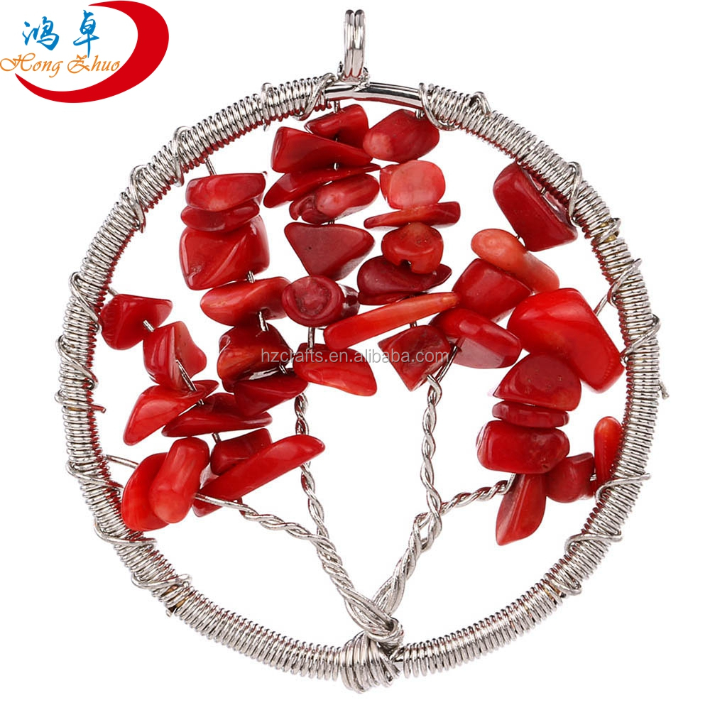 Wholesale Pretty Fashion Jewelry Stainless Steel Locket Tree Of Life Pendant Necklace Rose Quartz Necklaces