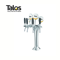 TALOS Classic Tap Tower Chrome 4-way Dispensing Tower Draft Beer Tower