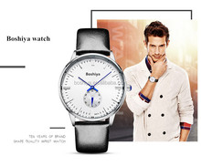 Cheap price leather strap watch valentine couple quartz watch for wholesale