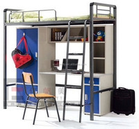 General use school accommodation beds, cheap wooden bunk bed for adult, student bunk bed with table