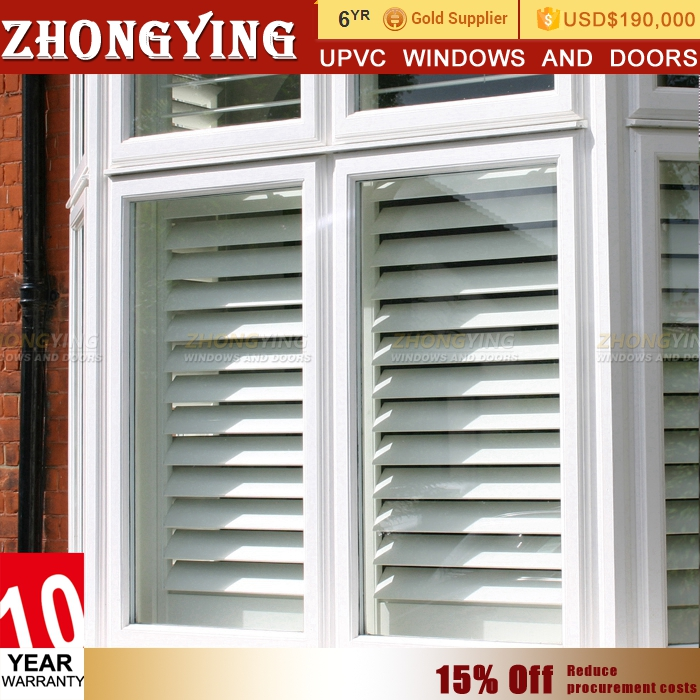 White casement type upvc window arch round blinds windows