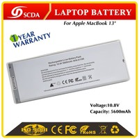 10.8V Original new Li-polymer Replacement laptop battery for Apple MacBook A1185 silver
