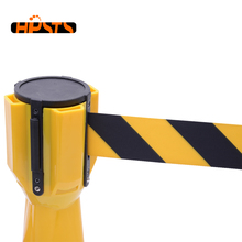PP material durable traffic crowd control temporary retractable belt barrier
