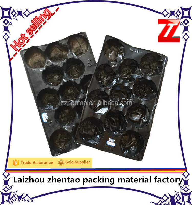 2014 Promotion New Design Customized Free Sample Offered 39*59cm Black Plastic Apple Fruit Packaging Tray