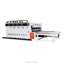 Fast speed semi automatic corrugated box printing machine in china