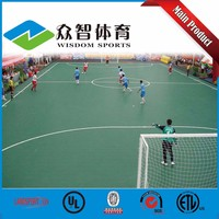 Anti Slip Removable Portable Interlocking Outdoor rubber sports flooring for futsal