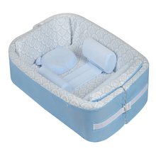 Baby Used Cradle Mat with Pillow & three Cylindrical bezel