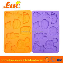 Lsm2225 Cartoon Characters Silicone Cake Molds Lace Mat Cupcake Decoraion Tools