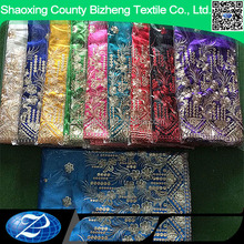 High quality african raw silk george clothing for wedding