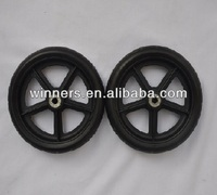 "7"" small EVA Plastic cart wheel and axles"