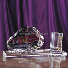 Office business crystal pen container