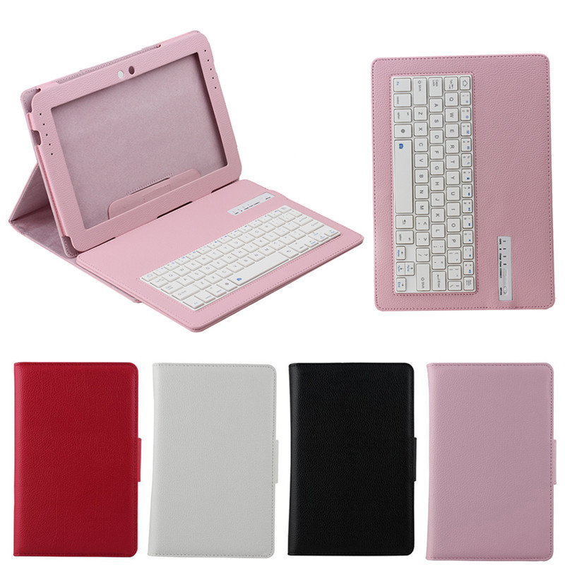 Litchi detachable bluetooth keyboard leather case for Samsung Note N8000