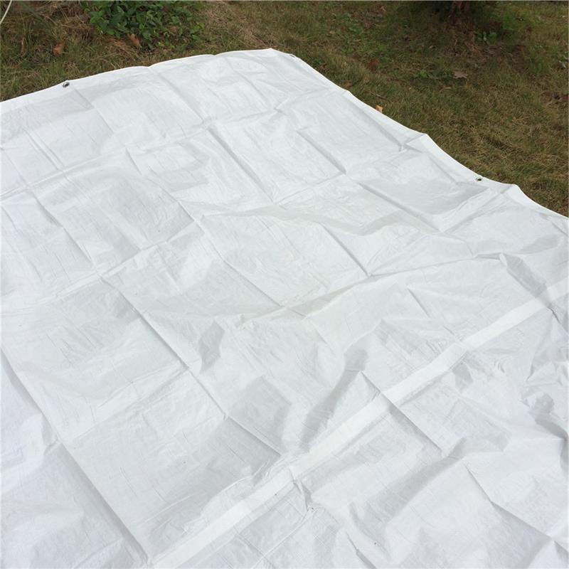 Fire retardent heavy duty rubber tarps for temporary shelter