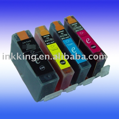 High quality compatible ink cartridge for Canon BCI 3BK/3Y/3M/3C ( ISO9001:2000 Certificate )