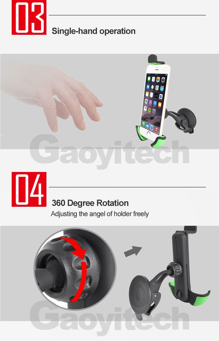 Car mount smartphone holder universal car holder for 4-6.3in car accessories
