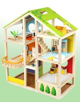 children toys new design wooden four seasons doll house toys