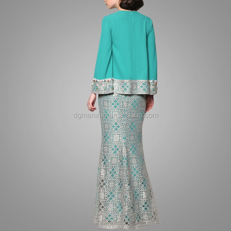 High fashion style muslim baju kurung fashion 2017