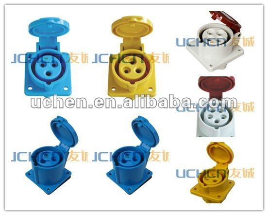 CE industrial female socket /IEC309 industrial receptacle