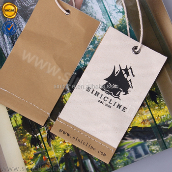 Sinicline 2017 natural feeling hot sale canvas fabric tag