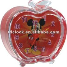 Apple shape mini plastic BB alarm timer clock