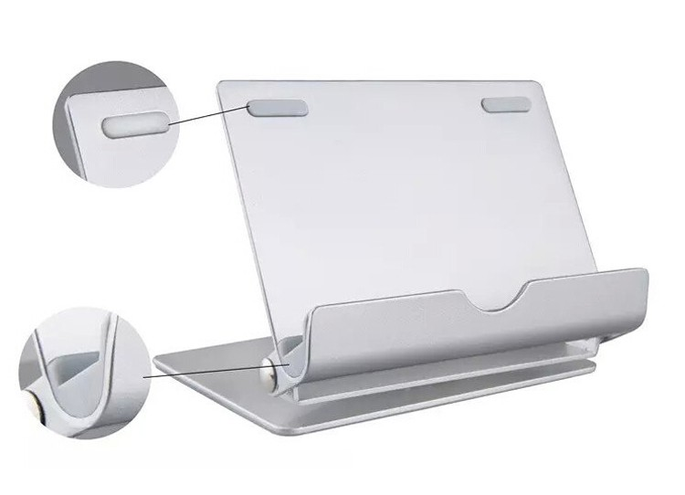 High quality 360 degree rotating aluminum alloy mobile phone tablet stand for samsung iphone pad