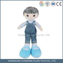 Stuffed Plush Human Toys Lovely 18 inch Boy Doll with Jeans Clothes