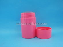 Red push up design bottle, ABS round deodorant stick tube, bottom filled bottle