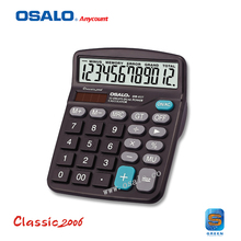 OS-837 desktop cheap solar powered calculator