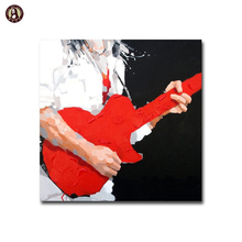 Modern Painting Figure Playing Instrument Canvas Wall Art for Home Decor