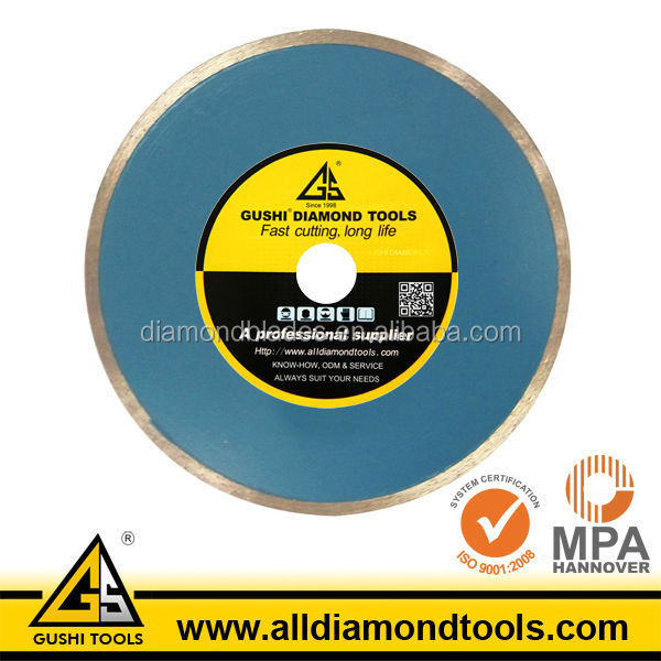 Continuous Wet Glass Tile Cutting Diamond Saw Blade