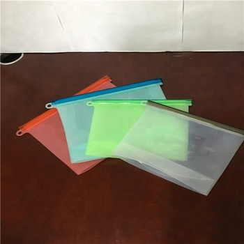 Reusable silicone zipper bag food storage,thermal bag for food from chinese manufacturer