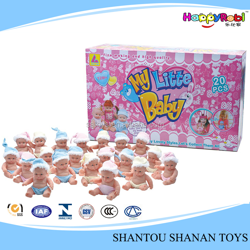 Hot sales children toy 20 pieces inner girl boy born doll
