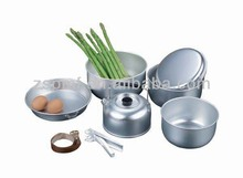 Qualified good price camping pot cookware set