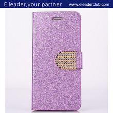 "Bling Glitter Flip Wallet PU Leather Case For 4.7"" iPhone 6"