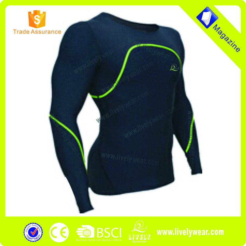 Lively-- high quality long sleeve compression shirt, fitness sport clothing