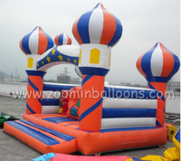 High quality with cheap price customized inflatable bungee trampoline, inflatable castleZ1248