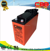 factory price 12V 55ah front terminal AGM GEL battery for ups system