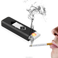 2017 New 1Pc Novelty USB Electronic Rechargeable Battery Flameless Cigar Cigarette Electronic Lighter