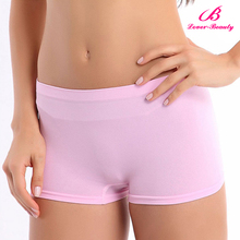 Sexy Pink Ladies Nylon Panties Seamless Sport Boyshorts Shorts