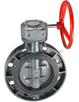 Worm Gear PVC Butterfly Valve 2 inch 4 inch 8 inch 12 inch