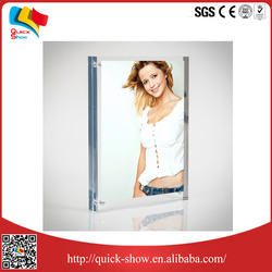 2016 hot sale custom transparent acrylic photo frame design