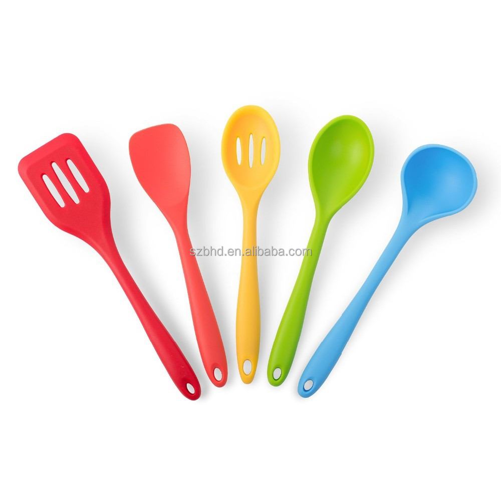 5-Piece Heat-Resistant Cooking Utensil Set, kitchen utensil set/silicone kitchen utensil set