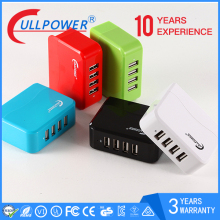 DOE VI desktop 4port usb wall charger 5v 4.9A intelligent multiple charger