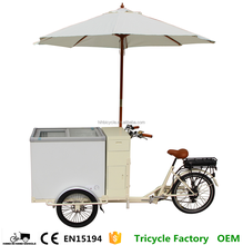 Street Use Take Away French Orange Juice Hot Dog Tricycle Ice Cream Cart Hot Sale by Factory