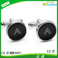 Personalized Round Black Cufflinks